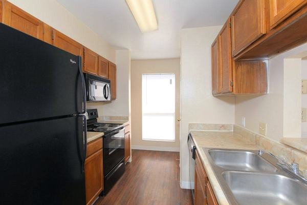 kitchen at Calder Square Apartments