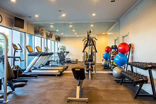 fitness center at The Cabochon at River Oaks Apartments
