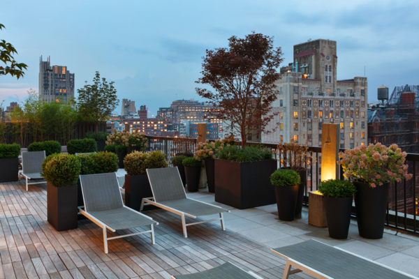 rooftop deck at The Chelsea Apartments