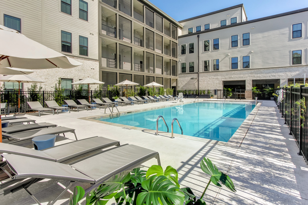 pool at Oyster Park Apartments