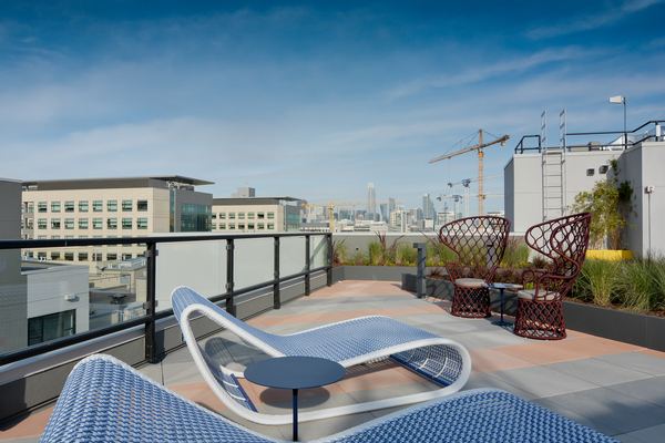 rooftop patio at The Martin Apartments