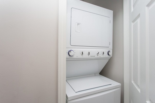 laundry room at James and Harrison Court Apartments