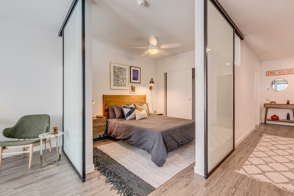 bedroom at Leeward Apartments