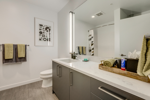 bathroom at Leeward Apartments