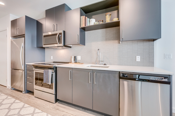 kitchen at Leeward Apartments