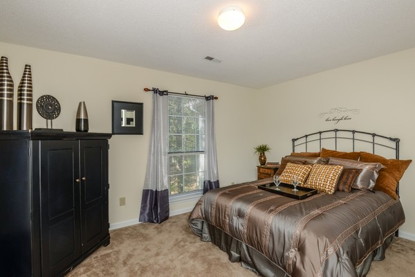 bedroom at Summit Avent Ferry Apartments