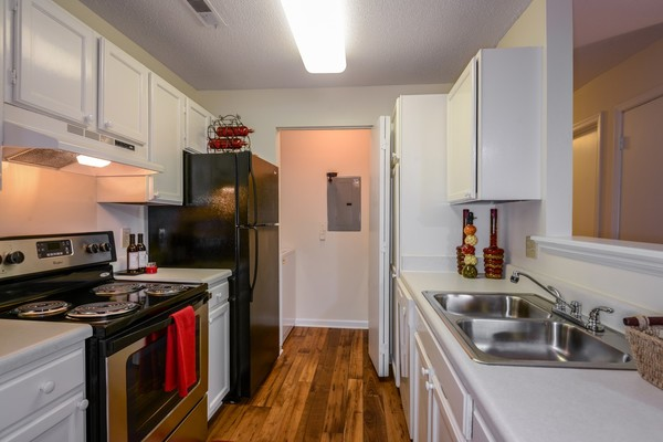 kitchen at Summit Avent Ferry Apartments