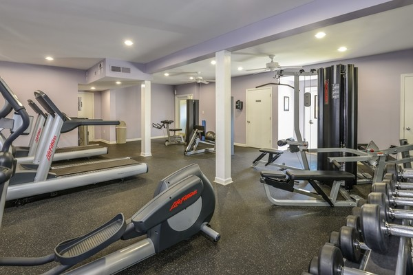 fitness center at Summit Avent Ferry Apartments