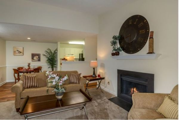 living room at Summit Avent Ferry Apartments