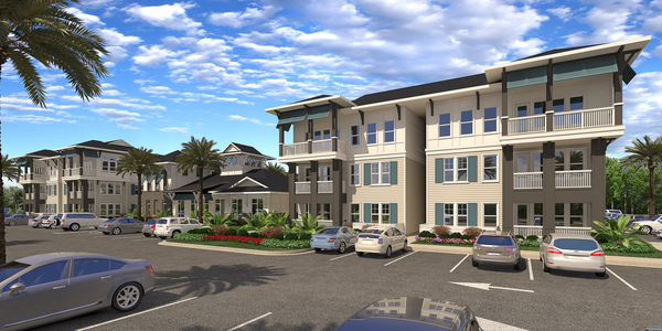 rendering at Sea Glass Apartments
