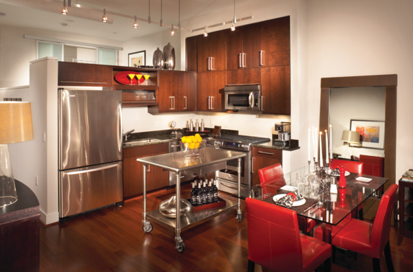 kitchen at The Lofts at Park Crest Apartments