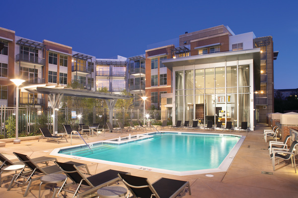 pool at The Lofts at Park Crest Apartments