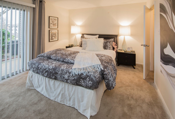 bedroom at The Madison at Eden Brook Apartments