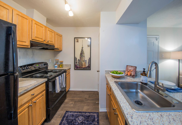 kitchen at The Madison at Eden Brook Apartments