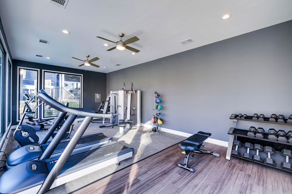 fitness room at Regal Parc Apartments