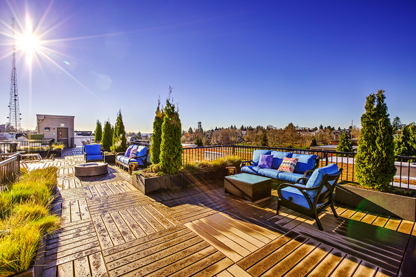 rooftop deck at The Queen Anne Collection - Towne