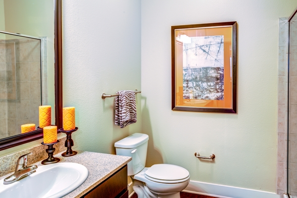 bathroom at Ladera Apartments