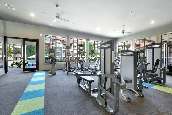 fitness center at Ladera Apartments
