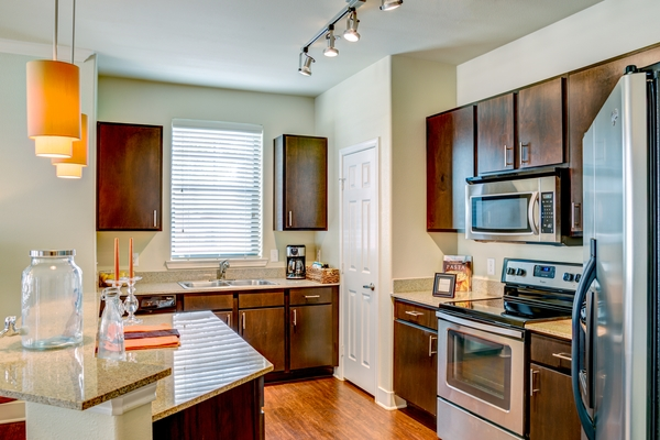 kitchen at Ladera Apartments