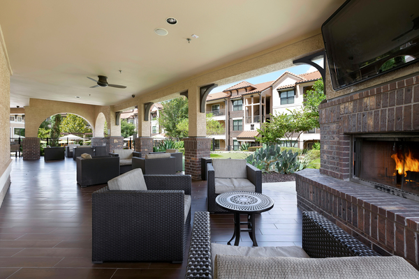 recreational area at Ladera Apartments