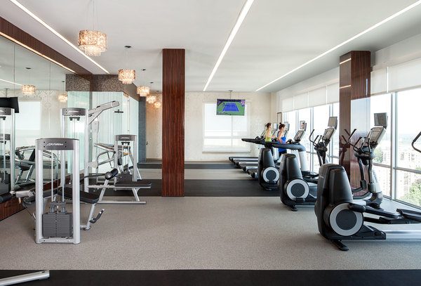 fitness center at The Ascent at Spring Hill Station Apartments