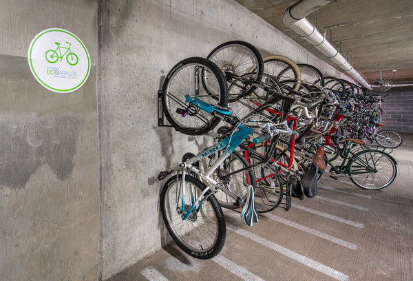 bike storage at The Ascent at Spring Hill Station Apartments