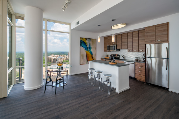 kitchen at The Ascent at Spring Hill Station Apartments