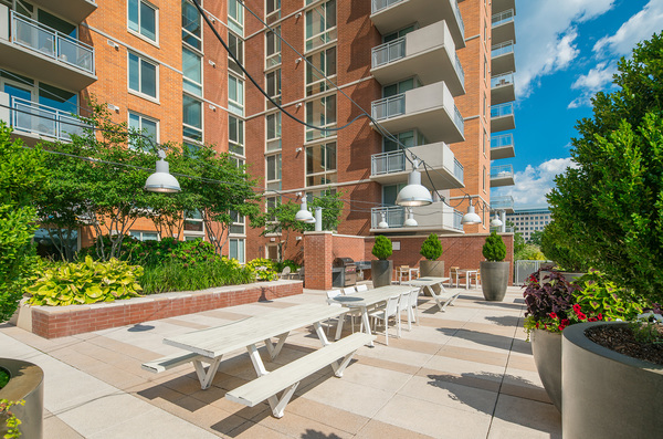 patio area at The Ascent at Spring Hill Station Apartments