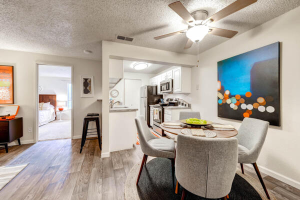 dining room at Terra Vista at the Park Apartments