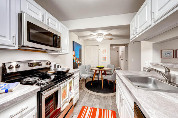 kitchen at Terra Vista at the Park Apartments