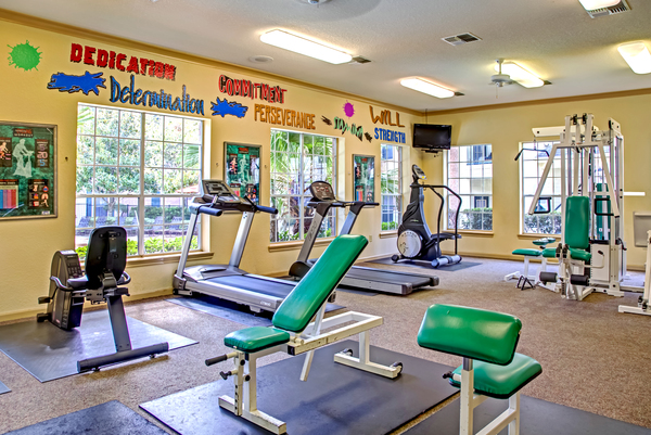 fitness center at Magnolia Creek Apartments