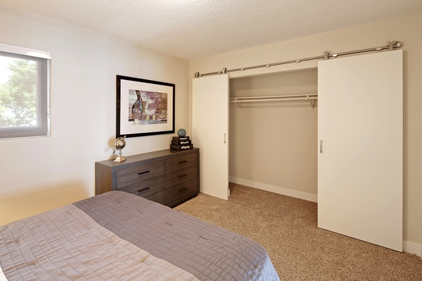 bedroom at Avana on the Lake Apartments