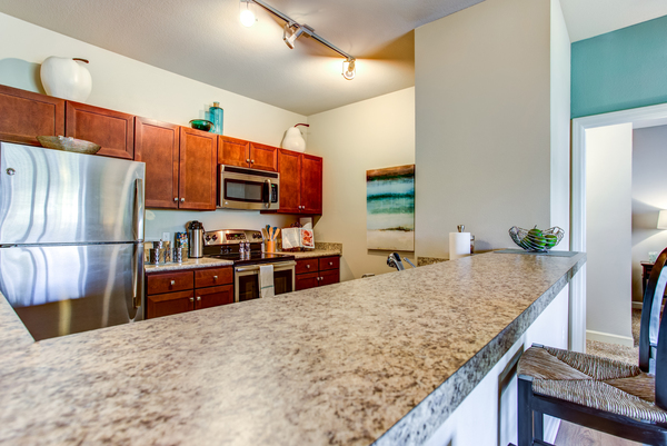kitchen at Town Center at Lakeside Village Apartments