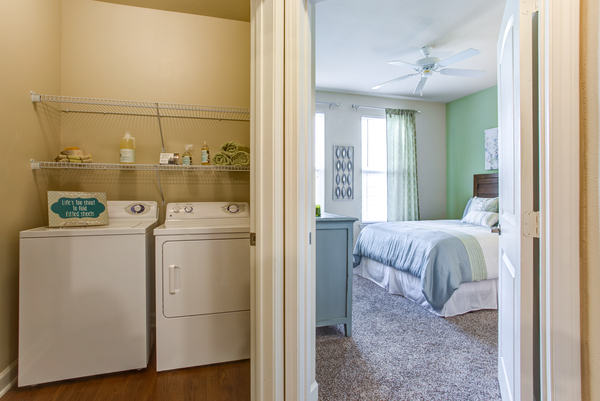 laundry room at Town Center at Lakeside Village Apartments