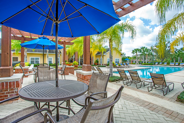 patio at Town Center at Lakeside Village Apartments