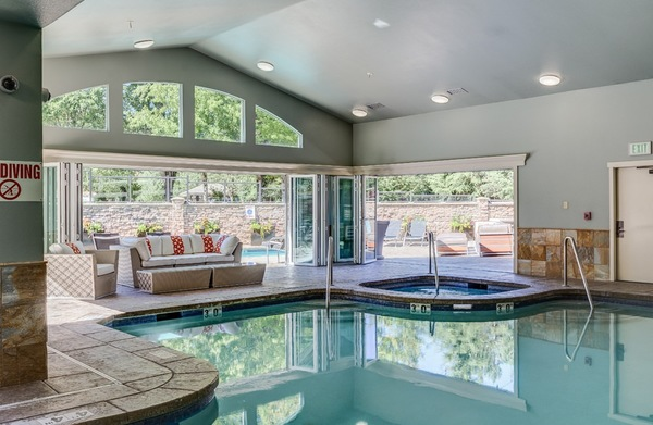 indoor pool at Avana at Forbes Creek Apartments