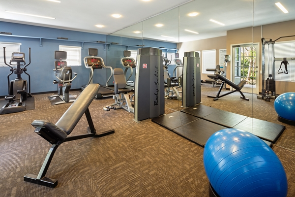 fitness center at Channel Point Apartments
