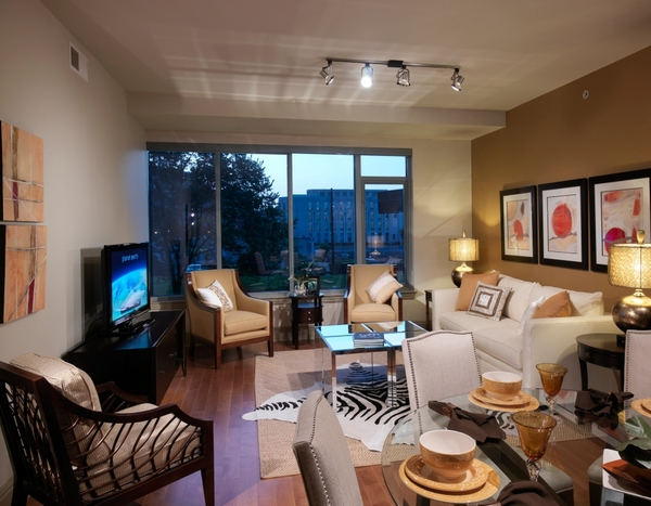 living room at Ashton at Judiciary Square Luxury Apartments
