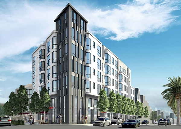 rendering at Duboce Apartments