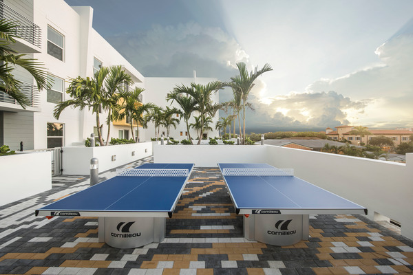 rooftop games at Caspian Delray Beach Apartments