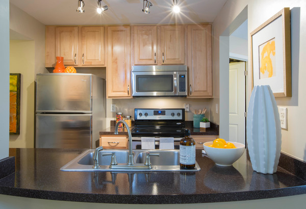 kitchen at Ellicott Grove Apartments