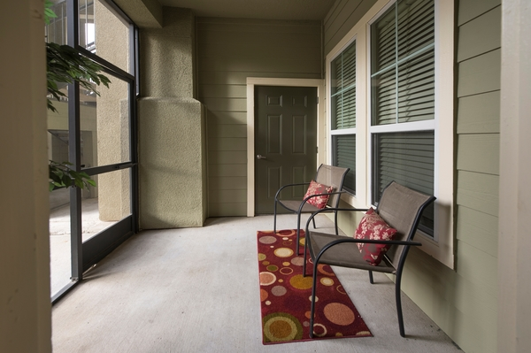 patio at King's Cove Apartments