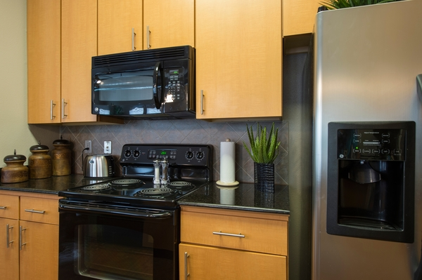 kitchen at King's Cove Apartments