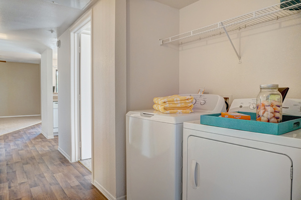 laundry room at The Colony Apartments