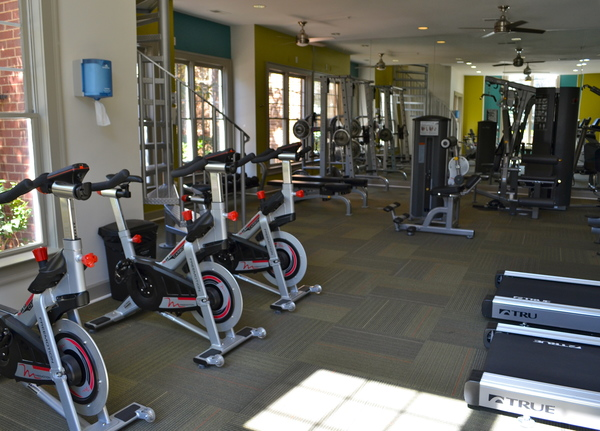 fitness center at The Flats at North Springs
