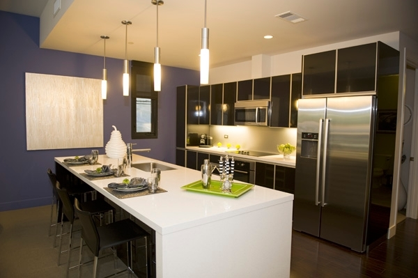 kitchen at Levare Apartments