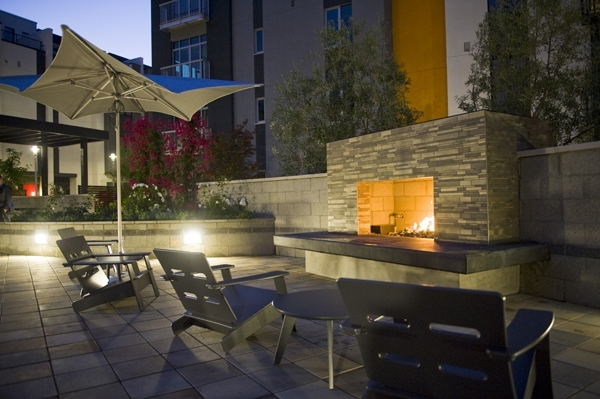 fire pit at Levare Apartments