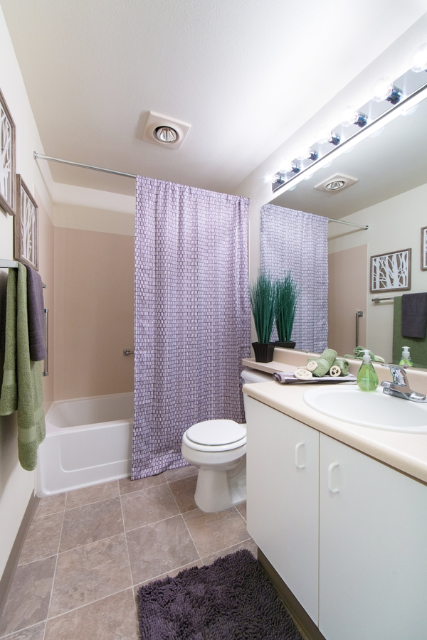 bathroom at Whitewater Park Apartments