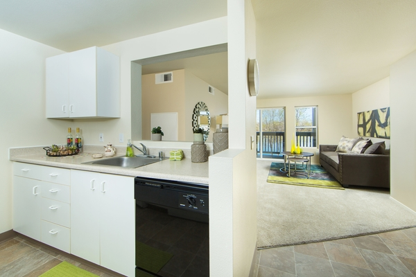 kitchen at Whitewater Park Apartments