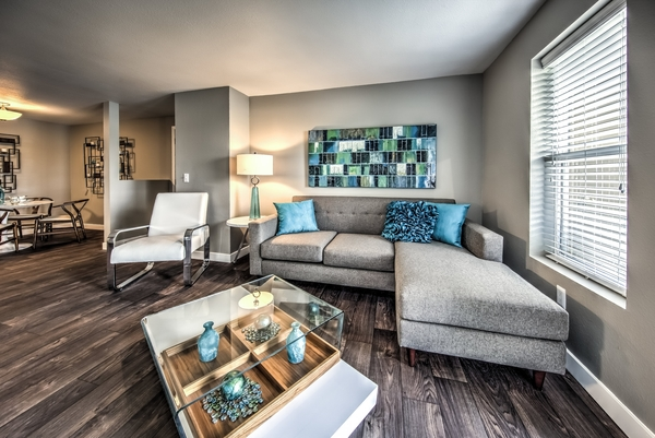 living room at Whitewater Park Apartments